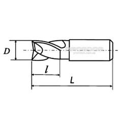 Фреза шпоночная d=2,5 мм