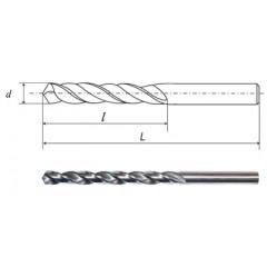 Сверло с цилиндрическим хвостовиком d=12,8х200 Р6М5